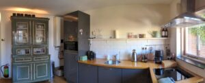 Keuken voor ontbijt en warme maaltijd